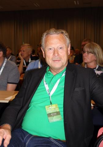Det nyvalgte styremedlemmet Bjørn Hoel fremsto på generalforsamlingen like grønn som bilparken til konsernet han leder.