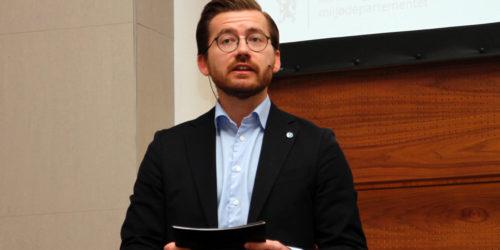 Den ferske klima- og miljøministeren prioriterer Byggavfallskonferansen 2020 i sin andre uke på jobb. Foto: Astri Kløvstad.