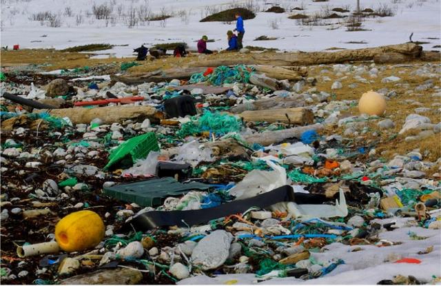 Ingen bestrider at plast i havet er et alvorlig miljøproblem. Men det er ikke enkelt å kvantifisere det. Bildet viser opprydning av Rekvika ved Tromsø i 2010. Foto: Bo Eide.